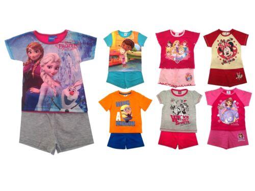 Vendita Ragazze Per Bambini Carattere UFFICIALE pigiama corto PJs 2 Pezzi Set Estate