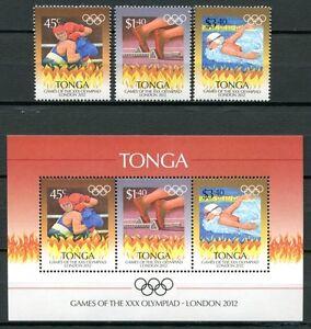 Tonga-2012-Olympiade-London-Olympics-Sport-1789-1791-Block-55-Postfrisch-MNH