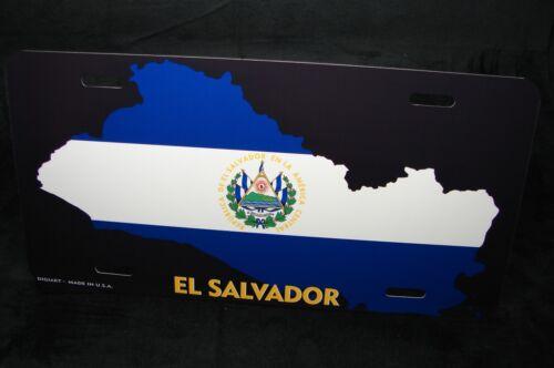 EL SALVADOR FLAG METAL NOVELTY LICENSE PLATE FOR CARS EL SALVADOR BANDERA