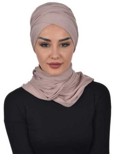BT-03 Fertig Kopftuch Praktisch Hijab Bone Türban Esarp Sal Tesettür Khimar