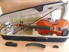 Palatino cr1501 Violino & Custodia 4/4 Full Size Starter Bundle vestito sembra inutilizzato