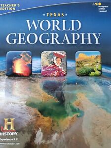 Details about Houghton Mifflin Harcourt Texas World Geography Teacher's  Edition Textbook NEW