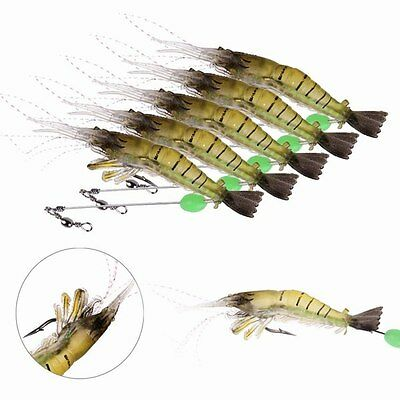 Low Price 10cm Silicone Shrimp Fishing Simulation Saltwater Bait Sporting Props