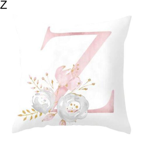 Brief rosa Blumendruck Kissenbezug Wurfkissenbezug Sofa Home Decor De