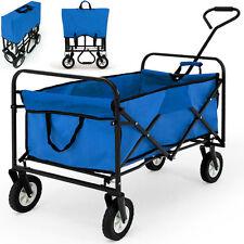Trasporto auto pieghevole carrelli trolley Carrello da giardino carriola blu