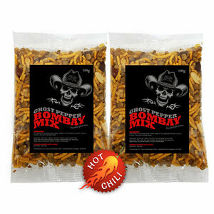 Ghost-Pepper-2-x-100g-Bombay-Mix-Very-Hot-Chilli-Mixed-Snack-Naga-Jolokia