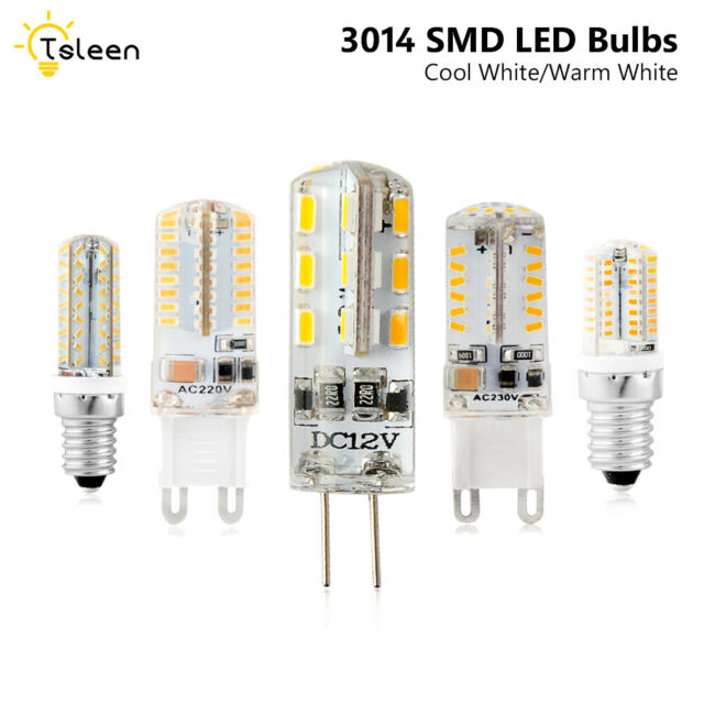 G4 3014SMD 3/5/6/8/9W LED Crystal Lamp Light Mini Silicone Bulbs 12V AC/DC 220V