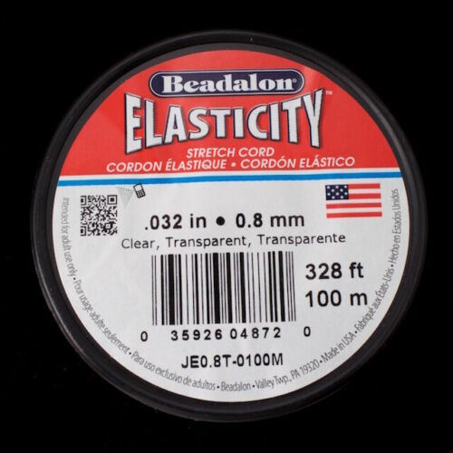 0.8mm Elasticity Stretch Cord By the Yard or 100 Meter Roll #CDF034