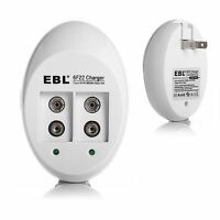 Ebl Universal 9v Li-ion Charger For 9 Volt Ni-cd Ni-mh Rechargeable Battery