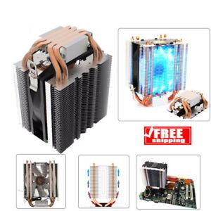 COOLER-CPU-LED-FAN-Dissipatore-di-calore-4-Condotto-termico-in-Radiatore-per-Intel-LGA-775-1150-1151