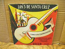 los 3 de santa cruz - cancion enamorada disque decca n° EFM 455542