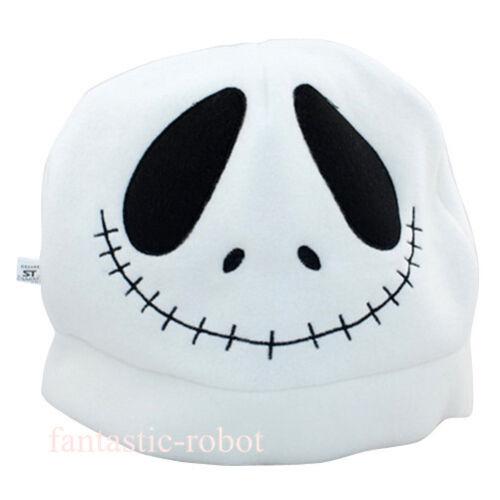The Nightmare before Christmas Jack Plush Hat Cosplay Costume whtie Skull Hat 1x