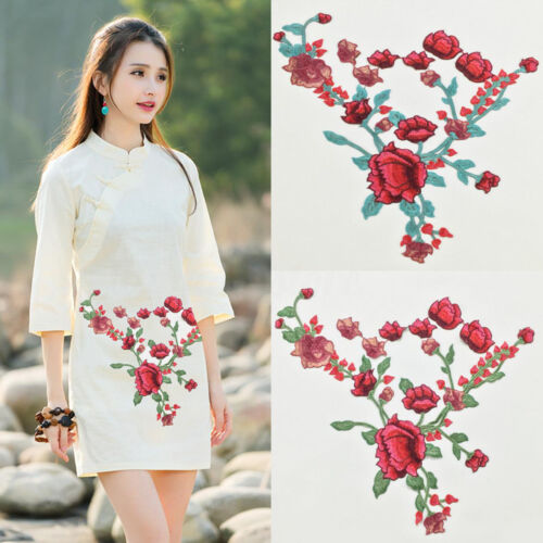 24 Style Embroidery Flower Sew On Patch Badge Bag Hat Jeans Dress Applique