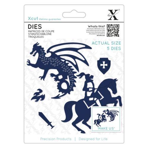 Knight /& Dragon Metal Die Set Paper Card Craft Docrafts Xcut