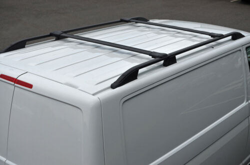 2014+ Black Cross Bar Rail Set To Fit Roof Side Bars To Fit Renault Trafic