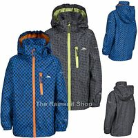 TRESPASS BOYS WATERPROOF ELI HOODED RAIN JACKET COAT KIDS CHILDS 3-12yrs