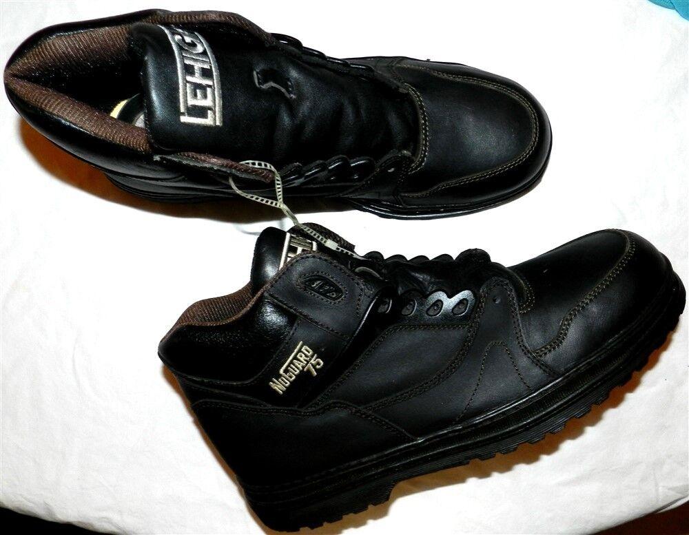 Work Boots Black Steel Toe Banana Republic NuGuard Men size 13M New