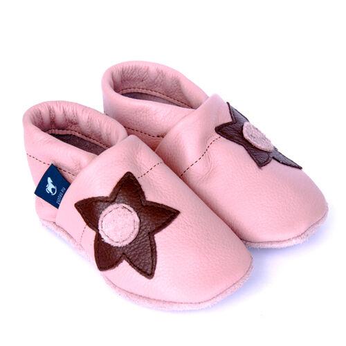 seitliche Blume Pantau Lederpuschen Lauflernschuhe Krabbelschuhe Babyschuhe