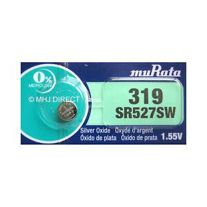 Murata-319-SR527SW-SR64-Silver-Oxide-Watch-Batteries-SELECT-1-2-3-4-5-amp-10-x-QTY