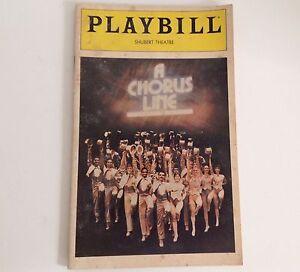 Playbill-1980-A-Chorus-Line-Schubert-Theatre-Bebe-Neuwirth-Theater