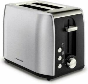 Morphy Richards Equip 2 Slice Toaster Variable Browning Controls Chrome//Black
