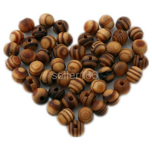 300-pcs-Brown-Wood-Spacers-Loose-beads-Necklace-Bracelets-Charms-Findings-8mm