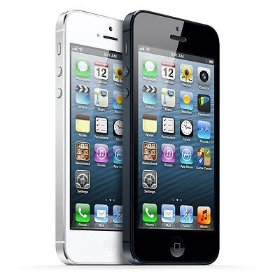 """Apple iPhone 5 16GB """"Factory Unlocked"""" WiFi iOS Black and White Smartphone"""