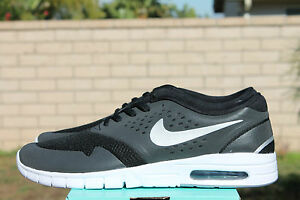 NIKE ERIC KOSTON 2 MAX SB SZ 8 BLACK METALLIC SILVER WHITE 631047 002