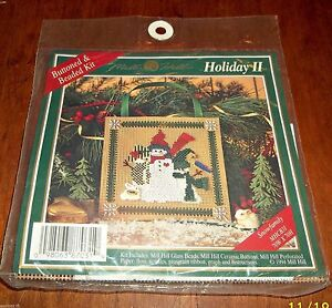 Mill-Hill-Buttons-and-Beads-Needlework-Kit-Holiday-II-Snowfamily-MHCB31-NIP