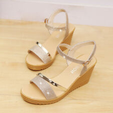 eadc52e1dbad item 2 Summer Women s Round Toe Non-slip Platform High Heels Sandals Buckle  Sequins -Summer Women s Round Toe Non-slip Platform High Heels Sandals  Buckle ...