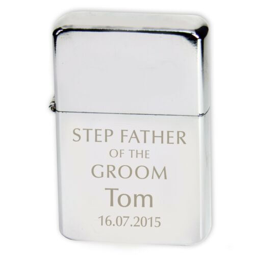 Various Colours Personalised Wedding Lighter Best Man Bridesmaid- Gift Box
