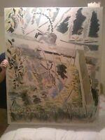 "Original Prentiss Taylor Oil painting. ""Gear at Lock 12"" . Large, 40 x 50."