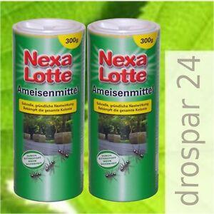 24-35-kg-Nexa-Lotte-Ameisenmittel-Ameisen-Streu-Giessmittel-2x300g
