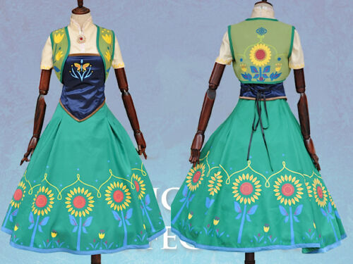 Frozen Fever Vestito Carnevale Anna Donna Dress up Anna Woman Cosplay 6699025