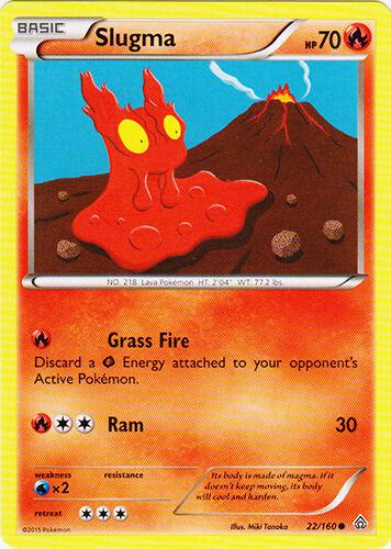 Reverse Holo Pokemon XY Primal Clash M//NM English x4 Slugma Common 22//160