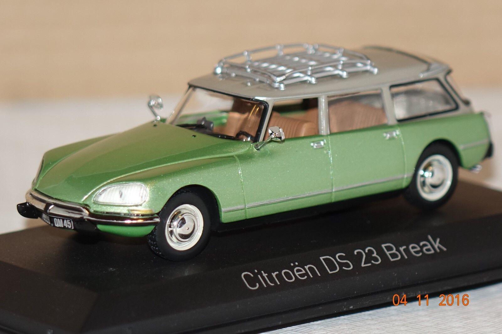 Citroën ds 23 pause 1974 gr ü n traf.1 43 norev neu & ovp 155044