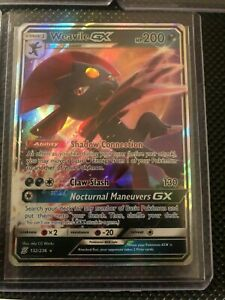 Ultra Rare Pokemon Card Mint Weavile GX 132//236 Unified Minds