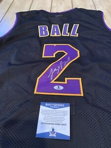 45a550471 Image is loading Lonzo-Ball-Autographed-Signed-Jersey-Beckett-Los-Angeles-