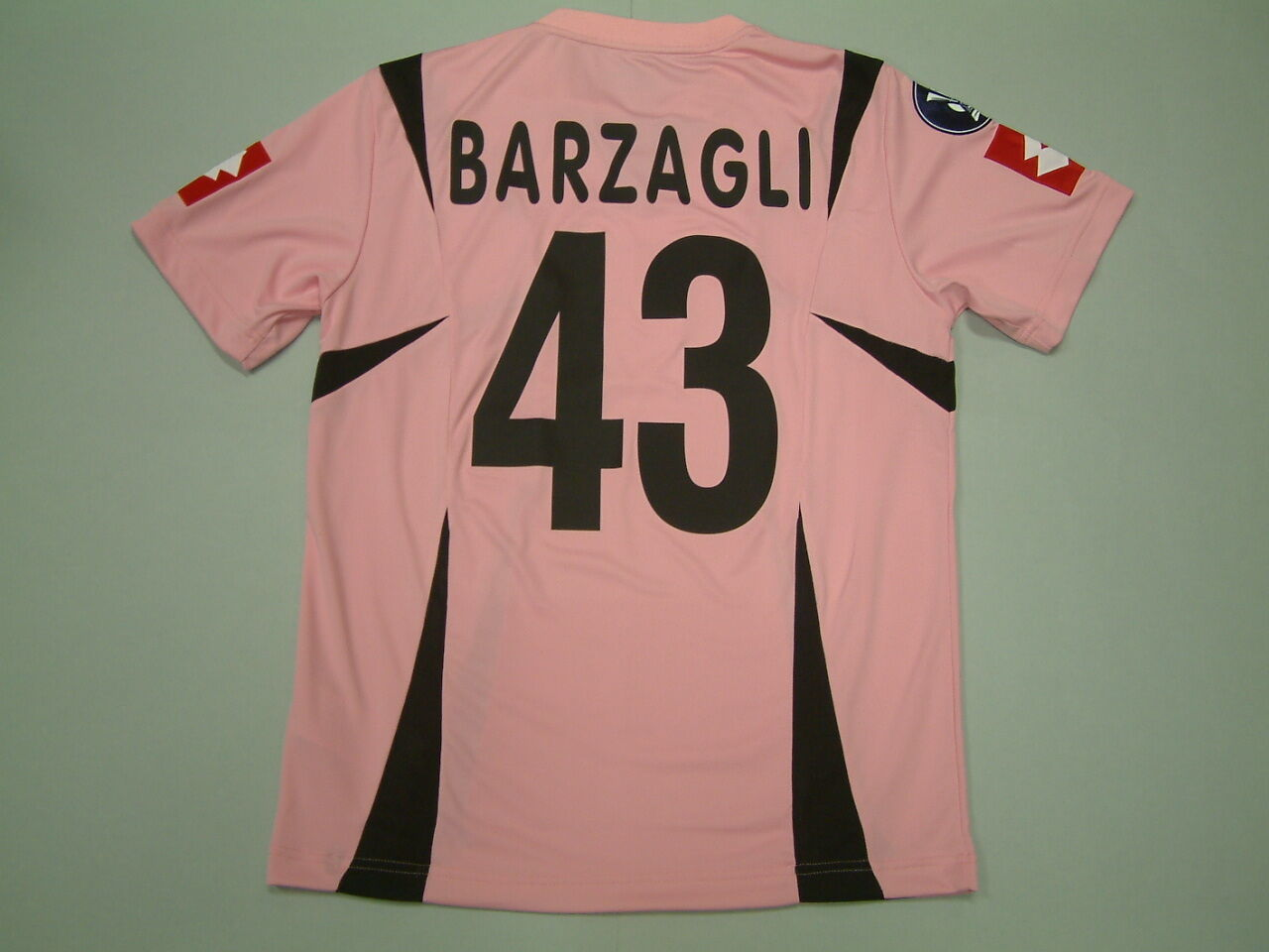 BARZAGLI PALERMO HOME match issued MC-SS 2006-2007 UEFA CUP