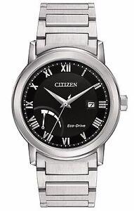 Citizen Eco-Drive Men's AW7020-51E Black Dial Roman Numeral Markers 41mm Watch