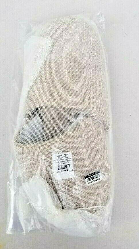 Williams Sonoma Cashmere Slippers Oatmeal Medium NWT