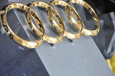24K Gold Plated Audi Badge A1 A6 S4 RS3 RS4 RS5 A4 Sline SGS Grill  Logo Emblem
