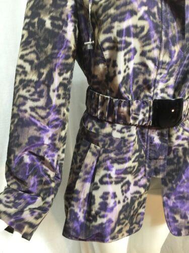Animal Sz cintura Giacca 148 Print Lafayette a Leopard 10 pioggia con con piega ExpfqPW4Ww