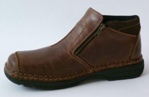 Brown 41 Boots en Zipper Lightning Nouveau Bottines Rieker 45 cuir tex mw80vNOn