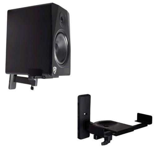 2 Rockville Wall Mount Swivel Brackets For KRK V8S4-NA Studio Monitor Speakers
