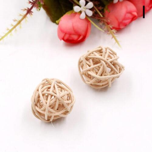 Blesiya 10pcs 3cm Wicker Rattan Ball garniture Craft Wedding Garden Decor New