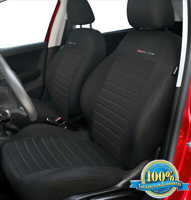 VW Caddy Maxi Life FRONT PAIR of Luxury QUILTED Protectors Car Seat Covers