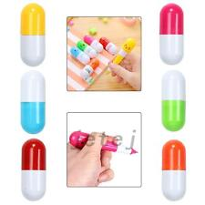 7Pcs Mini Smiling Face Vitamin Capsule Ballpen Pill Ball Point Novelty Pens Fun