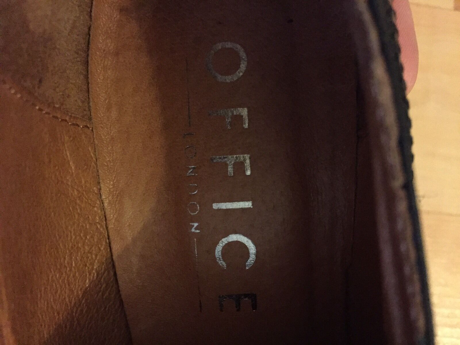 Office London Pumps Hohe Echtes Leder 38/ 38,5 Hohe Pumps Schuhe Damen Schwarz -Schnürpumps 9ef993