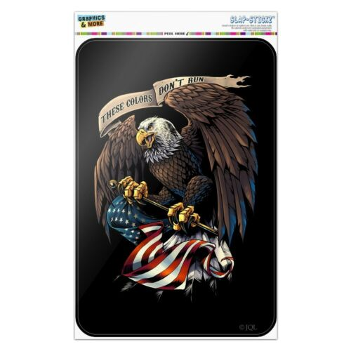 These Colors Don/'t Run Eagle US Flag Home Business Office Sign